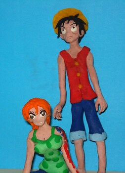 One piece clay animation