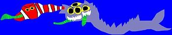 Random Sandworm SandShark Snake Mix Of Sorts MS Paint