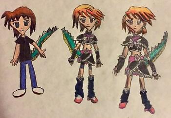 Arthur Transforming into Nagisa Misumi/Cure Black
