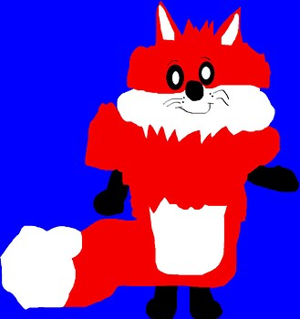 Fluffy Circo Fox Plush MS Paint Red Version^0^
