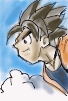 Goku fly