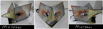 Rusted Metal Bird Mask