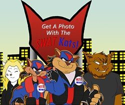 Get A Photo With The SWAT Kats.