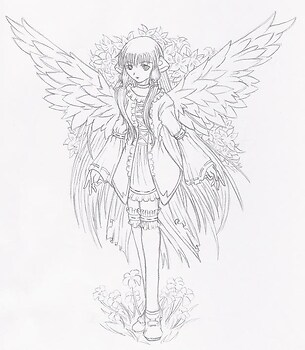 Chi with Angel wings